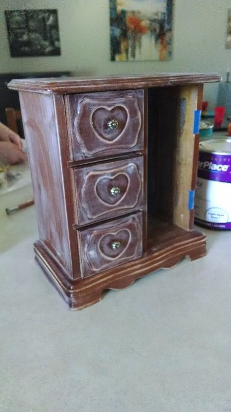 jewelry box gross to glam , how to, painted furniture
