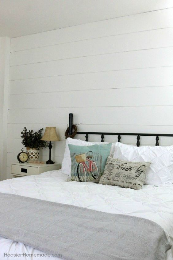 s 11 high end ways to use plywood in your room, bedroom ideas, woodworking projects, Make your own whitewashed shiplap wall