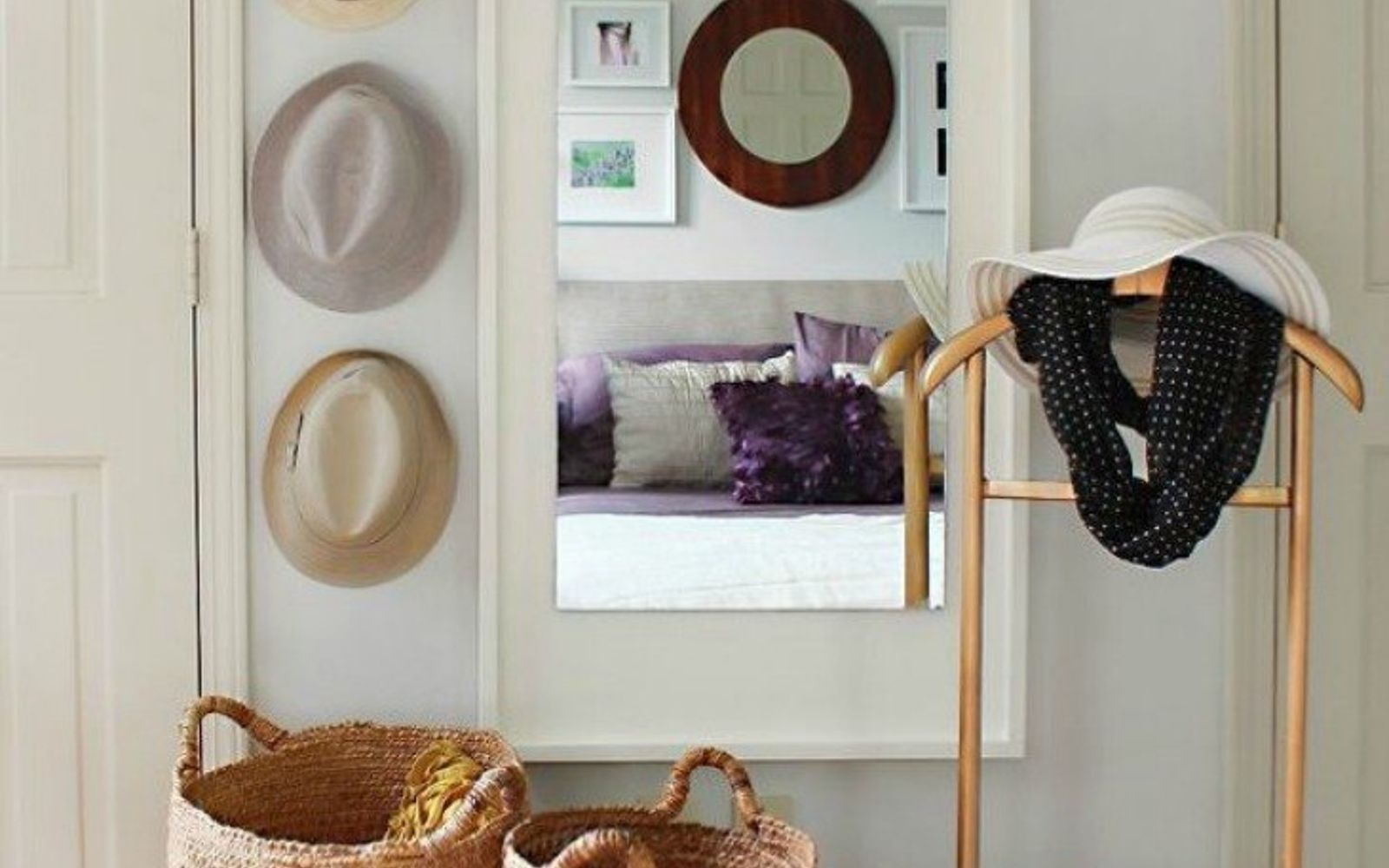 s 11 high end ways to use plywood in your room, bedroom ideas, woodworking projects, Upgrade your mirror to West Elm chic