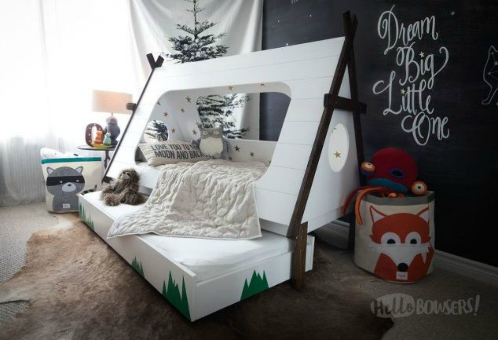 Build this super awesome kid's tent bed