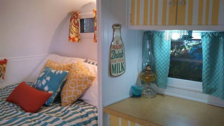 s 10 incredible camper makeovers you ll wish you d seen sooner, This fresh bunkhouse that can host guests