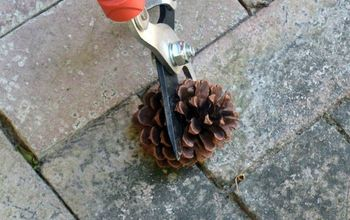 s these cut up pine cone decor ideas are perfect for fall, home decor