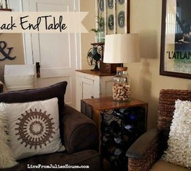 Thrift Store Upcycle Wine Rack End Table, How To, Living Room Ideas, Painted