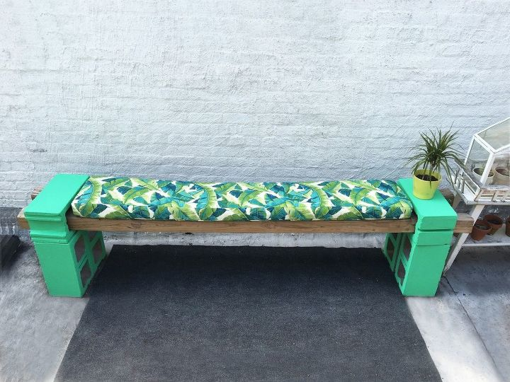 Prime How To Make A Cement Block Bench And Cushions Hometalk Evergreenethics Interior Chair Design Evergreenethicsorg