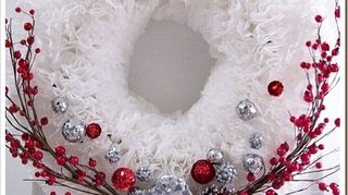 , Christmas Coffee Filter Wreath