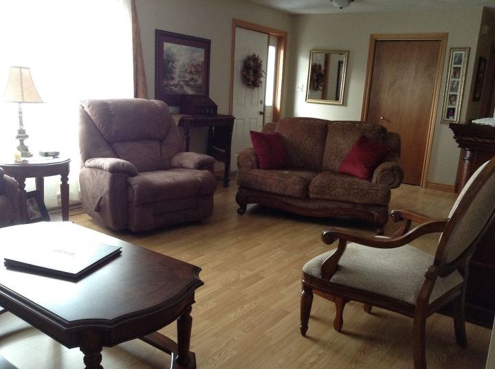 I need help rearranging furniture in my L-shaped living ...