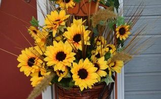 fall decor upcycle style, container gardening, crafts, how to, painting