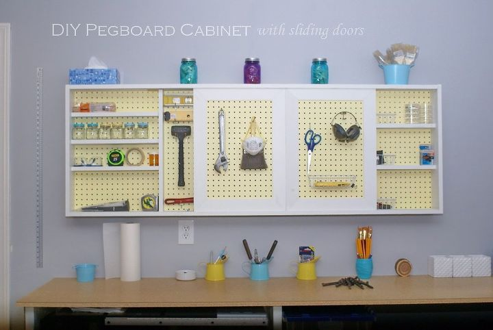 Organize Your Garage With A Pregboard Cabinet Hometalk