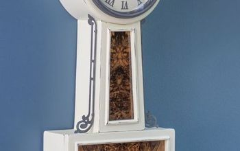 banjo clock makeover, chalk paint, how to, painted furniture, woodworking projects