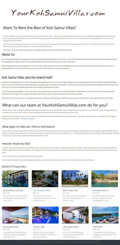 yourkohsamuivillas infographics