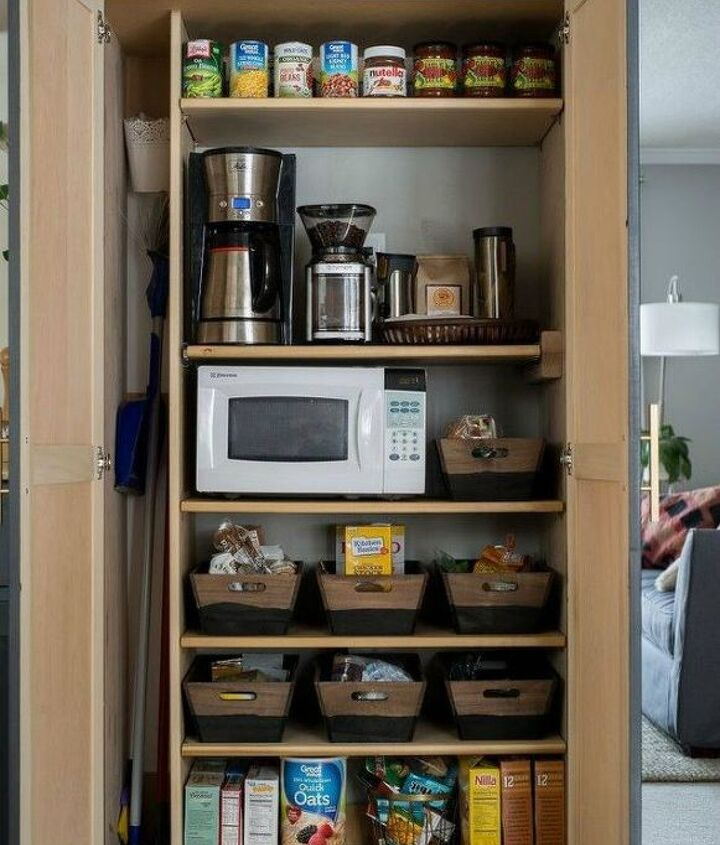 s these are the pantry organizing hacks that you ve been waiting for, closet, organizing, Add a column for tall items