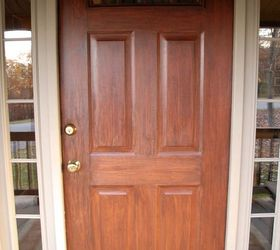 Give a painted door a faux wooden treatment & 13 Unique Ways to Make Your Front Door Stand Out | Hometalk