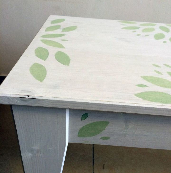 Remarkable Leafy Green Ikea Bench Makeover Hometalk Machost Co Dining Chair Design Ideas Machostcouk