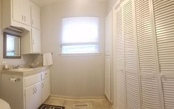 From Dirty Laundry Room/Bathroom to Spacious, Beautiful Room!