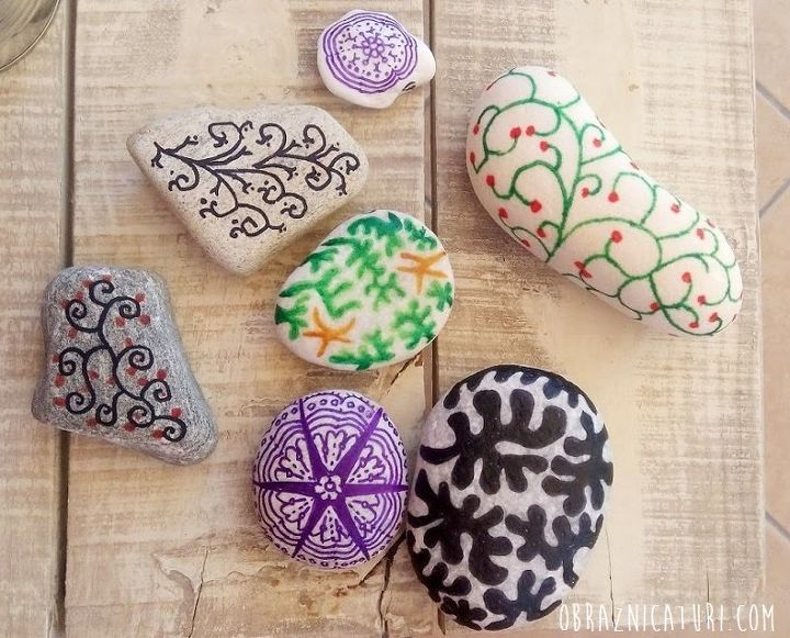 sweet memories of summer doodling on stones from greece, crafts, how to