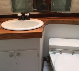 Redo of MidCentury Modern Half Bathroom Hometalk