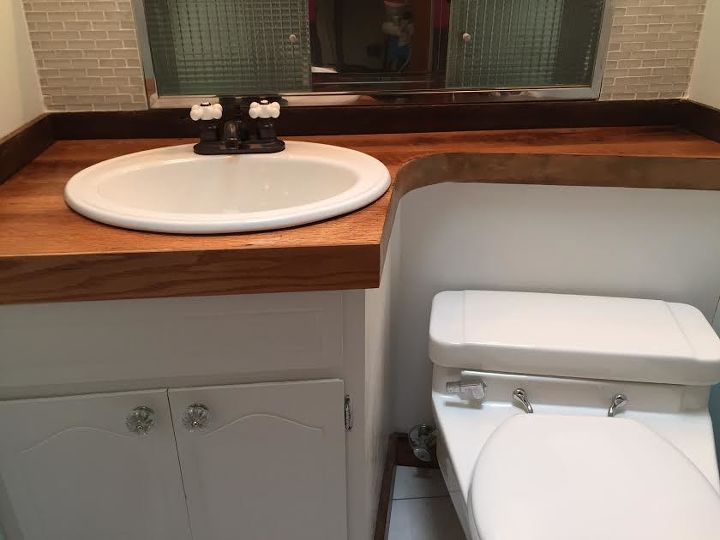 modern half bathroom ideas. redo of mid century modern half bathroom  ideas Redo Mid Century Modern Half Bathroom Hometalk
