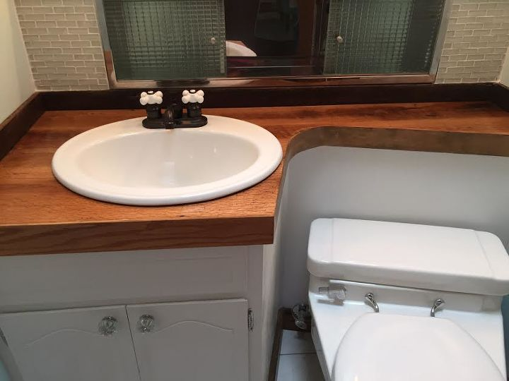 redo of mid century modern half bathroom  ideas Redo Mid Century Modern Half Bathroom Hometalk