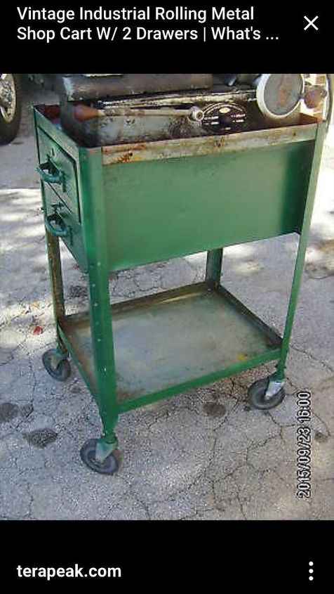 q vintage industrial cart, repurpose household items, repurposing upcycling