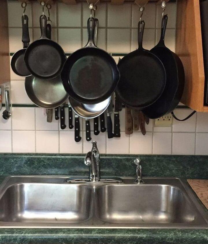 re purposing hanging wine glass rack , kitchen design, organizing, repurposing upcycling
