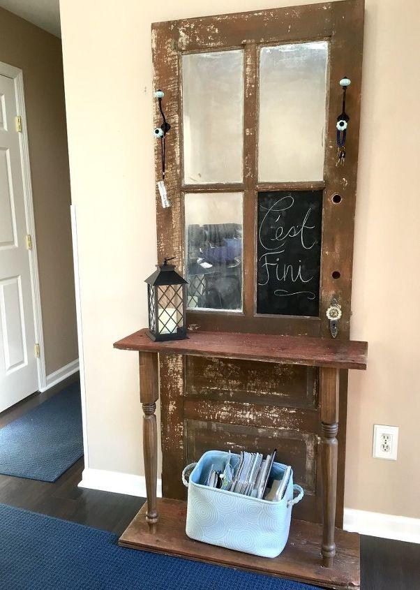 Repurposed Door Hall Tree Hometalk
