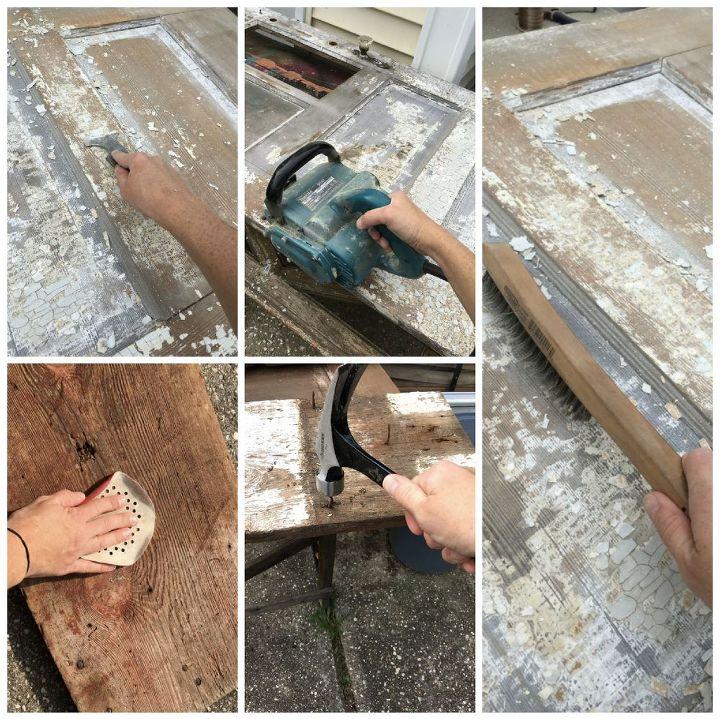 repurposed door hall tree, crafts, doors, foyer, how to, repurposing upcycling