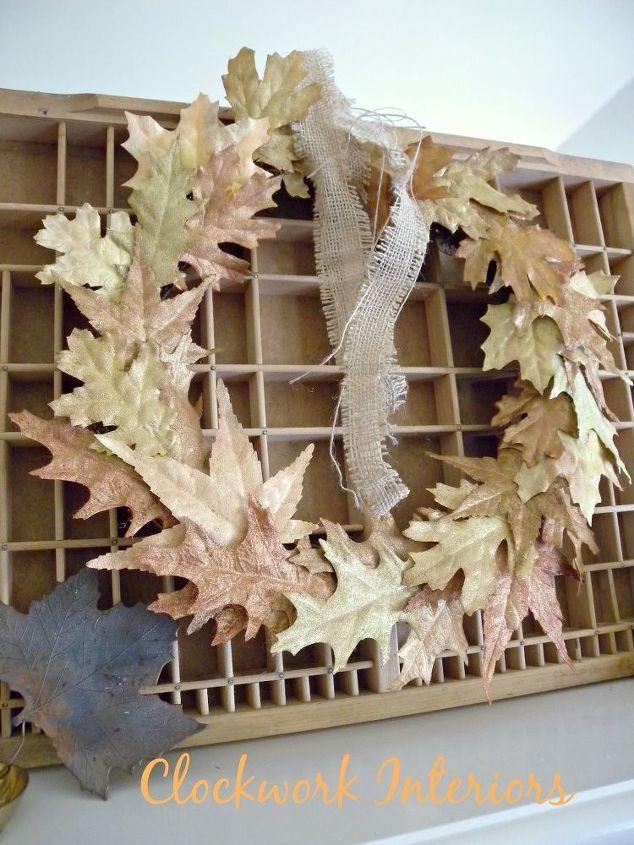 diy metallic autumn wreath, crafts, how to, seasonal holiday decor, wreaths