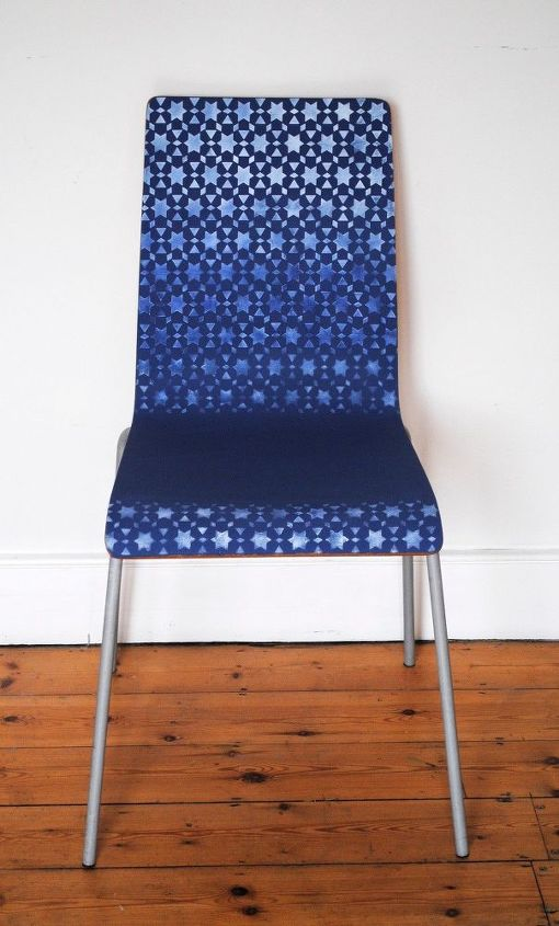 ombre stenciled chairs, how to, painted furniture