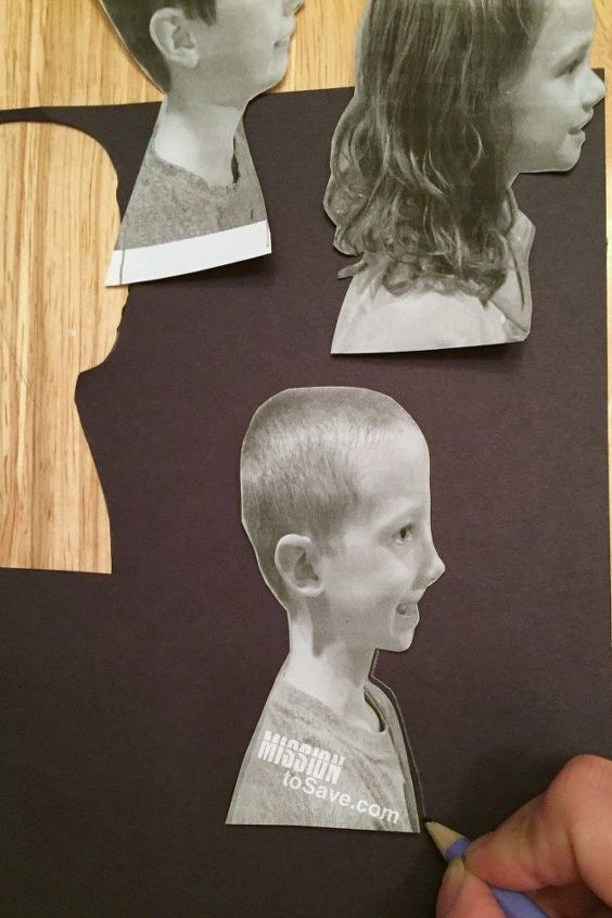diy silhouette portraits, crafts, how to, wall decor