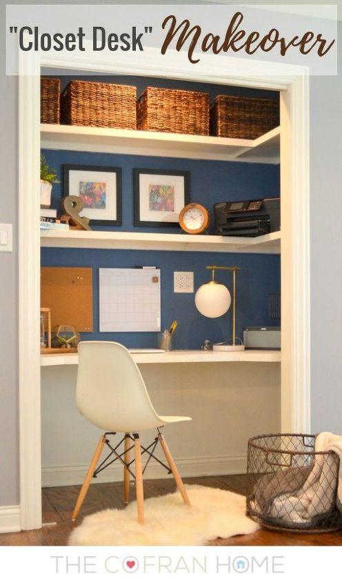 Closet desk makeover hometalk - An office turned into a home ...
