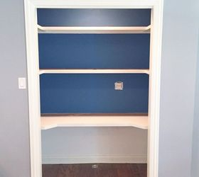 closet desk makeover closet home office painting storage ideas & Add a Home Office to a Spare Closet | Hometalk