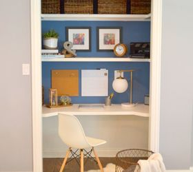 Charming Closet Desk Ideas Part - 3: Closet Desk Makeover, Closet, Home Office, Painting, Storage Ideas