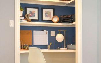 """""""Closet Desk"""" Makeover"""