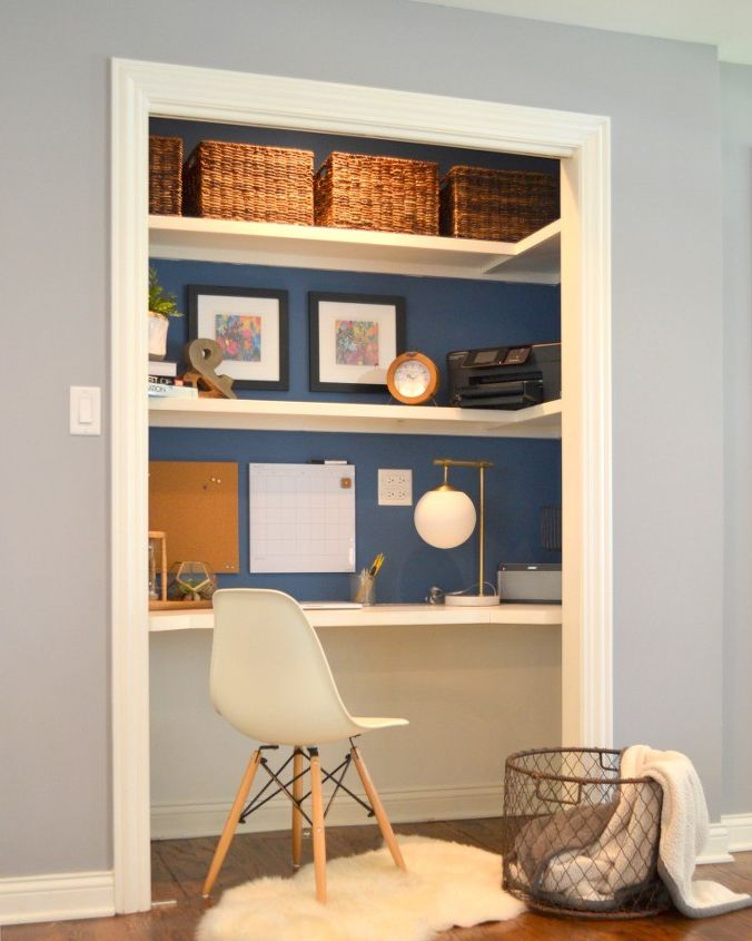 "Image 2197 From Post Organizing Your Interior Decorating: ""Closet Desk"" Makeover"