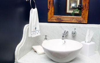 Bold Update in the Powder Room is Charming