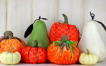 recycled fabric pumpkin pillows, crafts, how to, seasonal holiday decor