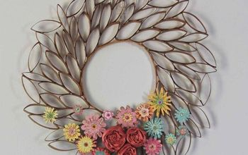 Upcycle Toilet Paper Rolls Into This Pretty Wreath!