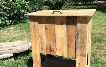 pallet cooler stand, how to, outdoor furniture, outdoor living, pallet, repurposing upcycling, woodworking projects