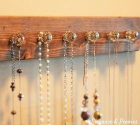 Rustic Jewelry Hanger Made From Old Keys Upcycle Driftwood DIY