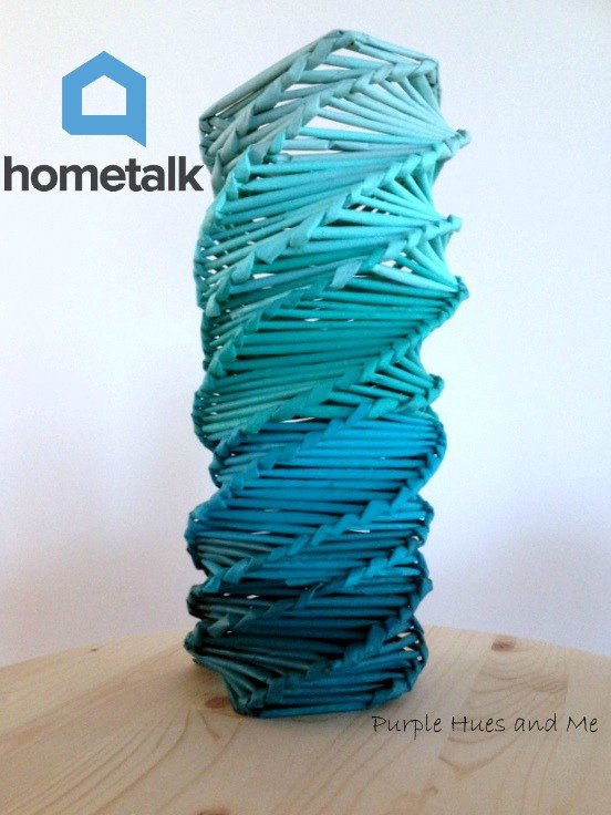 logo inspired recycle newspaper vase a hometalk challenge, crafts, how to, painting, repurposing upcycling