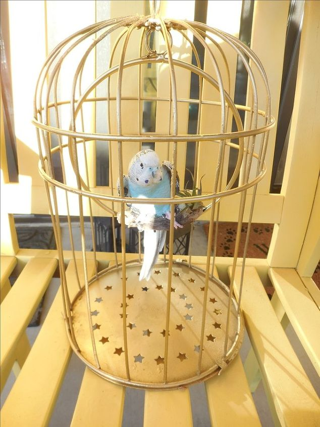 birdie in cage, crafts, how to, painting