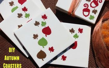 easy diy autumn coasters, crafts, decoupage, how to, seasonal holiday decor