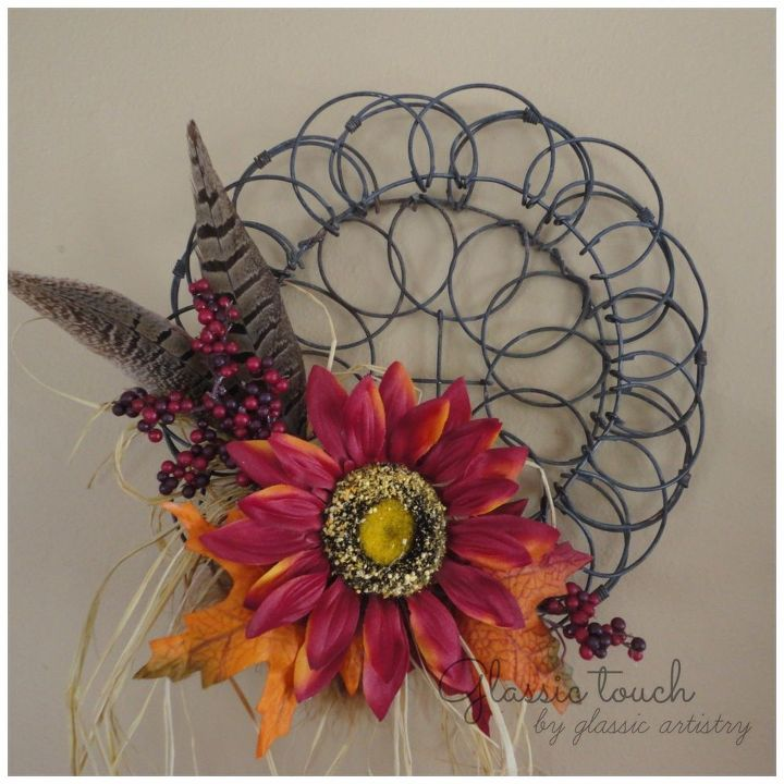 a little something for fall simple diy fall wreaths, crafts, how to, seasonal holiday decor, thanksgiving decorations, wreaths
