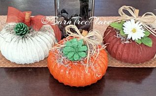 diy pumpkin decor, crafts, how to, repurposing upcycling, seasonal holiday decor