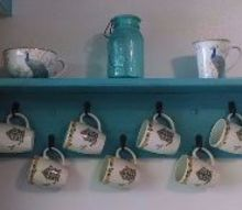 ugly shelf goes classy , painted furniture, shelving ideas