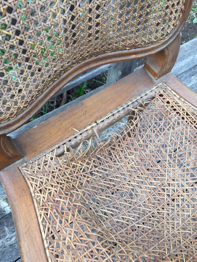 restyled french cane chair, how to, painted furniture, reupholster