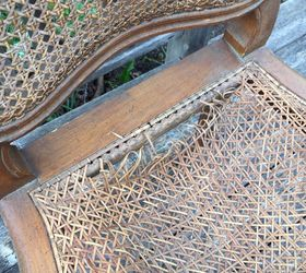 restyled french cane chair how to painted furniture reupholster