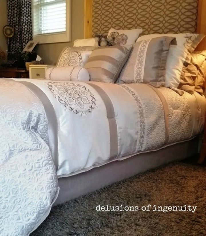 s 10 doable bed skirts with little or no sewing, bedroom ideas, This streamlined one that doesn t budge