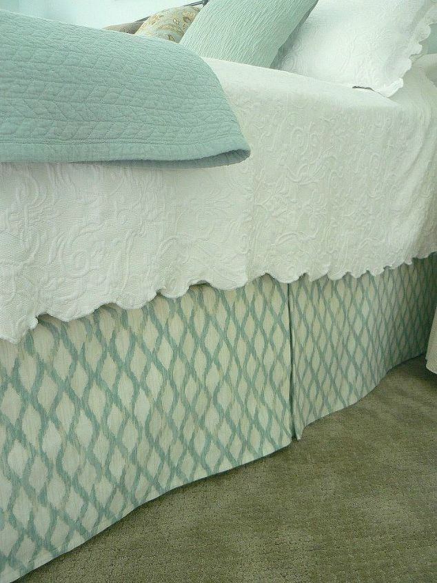 s 10 doable bed skirts with little or no sewing, bedroom ideas, This custom made box pleat one that adjusts