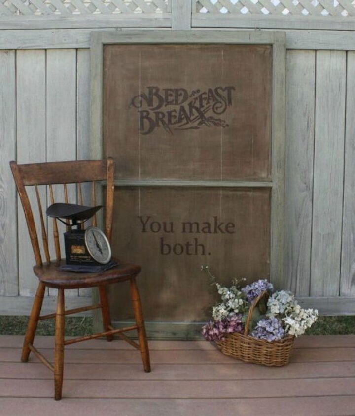 s the ultimate list of window upcycling ideas, windows, Transform it into a rustic country sign